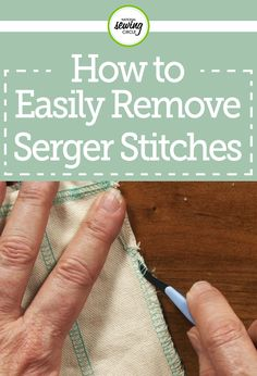 Whether you're new to using a serger or you're a seasoned professional, there will probably come a time when you need to rip out serger stitches. In this video, ZJ Humbach shows you several ways you can remove serger stitches with ease. She takes you through several tools that can be used for the process, as well as what side of the work to start ripping stiches out of first, and what thread to pull that makes everything easily unravel.