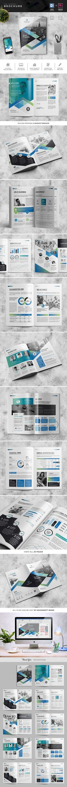 The Brochure — InDesign INDD #business #market • Available here ➝ https://graphicriver.net/item/the-brochure/20946919?ref=pxcr