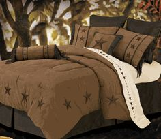 Laredo Tan Bed Set - Super Queen