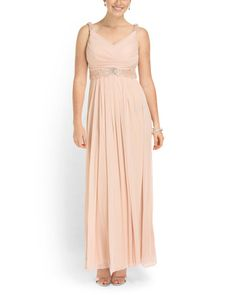 Embellished Detail Draped Gown