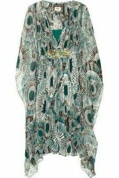 Kaftans Beach Kaftan, Cotton Kaftan, Stunning Summer, Simple Dresses, Cover Up, Dressing, Lingerie, Kaftans, Silk