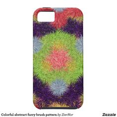 Colorful abstract furry brush pattern tough iPhone 6 case
