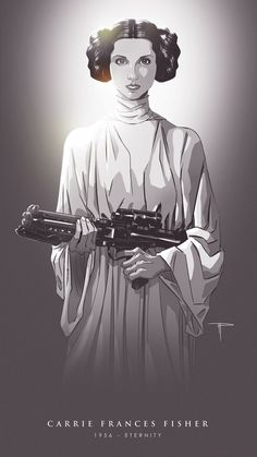 "michaelpasqualeart: ""Forever in our hearts. Happy Birthday Carrie, we miss you. Star Wars Film, Star Wars Mädchen, Leia Star Wars, Star Wars Poster, Bebe 1 An, Saga, Photo Repair, Han And Leia, Episode Iv"