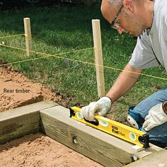 How to Install Timber and Brick Steps | Better Homes & Gardens