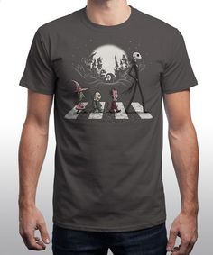 """""""Halloween Road"""" on Qwertee : Limited Edition Cheap Daily T Shirts   Gone in 24 Hours   T-shirt Only £8/€10/$12   Cool Graphic Funny Tee Shirts"""