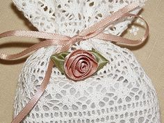A Set of 3 Lavender Sachets made of French by creativethreadboutiq