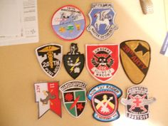 10 DIFF MILITARY PATCHES-LOT 24