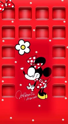 Red Minnie Mouse Icon Wallpaper