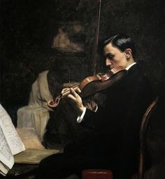 The Violin Student. Stephen Seymour Thomas