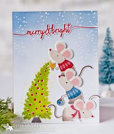 Merry & Bright Card by Betsy Veldman for Papertrey Ink (September 2016)