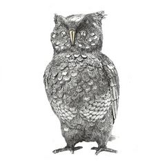 """Large owl sculpture in sterling silver (""""Gufo""""). Height: Made in Italy by Italo Gori. Silver Candelabra, The Golem, Metal Birds, Silver Gifts, Owls, Antique Silver, Sculpting, Silver Jewelry, Sterling Silver"""