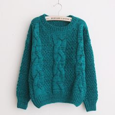 Cable Knit Sweater - Qimi