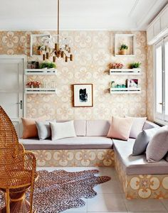 Decorating in Madrid   Living pink home tour