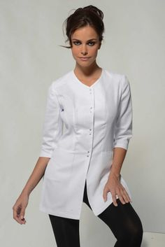 Aline White Spa Uniform Top                              …                                                                                                                                                                                 More