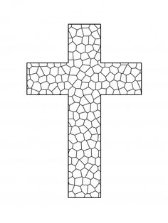 Stained Glass Cross Coloring Page plus other cross designs to color