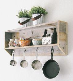 Reclaimed Wood Tea & Coffee Shelf by Doug and Cristy Designs on Scoutmob