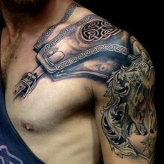 armour shoulder #tattoos for men