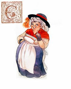 My illustration of Mother Goose! watercolor and ink