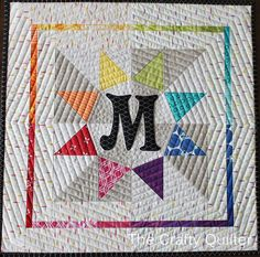 Mini Quilt made by Julie Cefalu for Schnitzel & Boo Mini Quilt Swap
