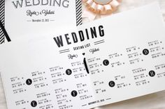 Wedding seating list idea