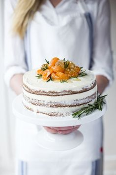 Orange & Rosemary Cake...A zingy, spicy festive cake courtesy of the very talented Kate Packwood of The Wildflour Bakery. | DonalSehan.com