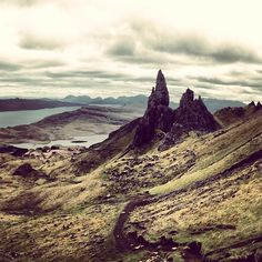 The Old Man of Storr is one of most famous views of the Isle of Skye, for good reason. Hike your way up and you are rewarded with a panoramic view of the gorgeous island and its environs (weather permitting).