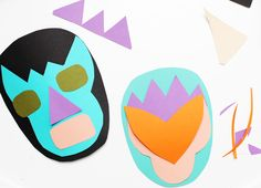 DIY Wrestling Mask Paper Craft Tutorial - My Kids Would Love This