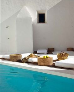 modern pool in ibiza. Outdoor Spaces, Outdoor Living, Outdoor Decor, Exterior Design, Interior And Exterior, Ideas De Piscina, Moderne Pools, Natural Swimming Pools, My Pool