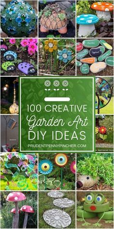 Create whimsical DIY garden art to liven up your garden. From repurposed planters to garden decorations from junk, there are plenty of unique garden art ideas to choose from. art from junk unique 100 Creative DIY Garden Art Ideas Diy Garden Projects, Diy Garden Decor, Garden Decorations, Creative Garden Ideas, Kids Garden Crafts, Diy Garden Ideas On A Budget, Patio Decorating Ideas On A Budget, Outdoor Garden Decor, Garden Yard Ideas