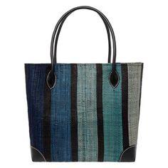 Le Comptoir De La Plage Striped Woven Shopper Bag