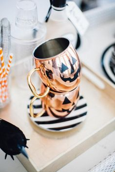 Spooky copper Halloween mugs!