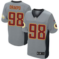 Nike NFL Elite Mens Washington Redskins Grey Shadow http://#98 Brian Orakpo Jersey