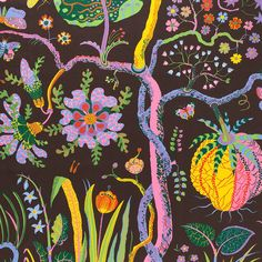 Josef Frank found inspiration for the Hawai printat the Metropolitan Museum of Art. Hawai was designed during 1943 – - Fabric Sample Hawai, Linen Hawai, Brown, Josef Frank Textiles, Textile Patterns, Print Patterns, Fun Patterns, Josef Frank, Art Furniture, Fabric Design, Pattern Design, Pattern Art