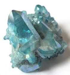 Aqua Aura Quartz Cluster