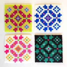 Hama bead coasters/ Scandi pattern by homemade city