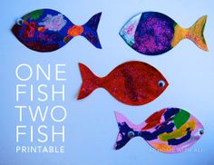 A simple free fish printable for kids to paint and decorate. We used them for party decorations.