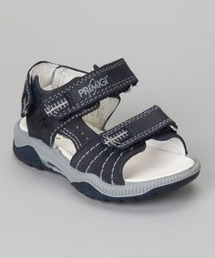 Take a look at this Blue & White Galles Sandal by Primigi on #zulily today!