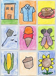 Art Trading Cards with Texture