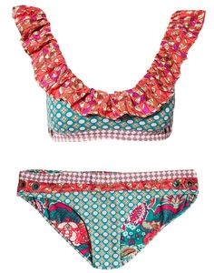 Bikini . . .  if I ever have the abs!  Love the color combination and the patterns, would like the top better if it were a halter.