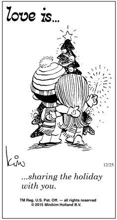 Love is...Friday 25 December 2015 | Bill Asprey Cartoons & Comic Strips