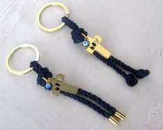 Greek baptism favors for all your guests and the event will be in their mind for long.The price is for 10 pieces. The total length of the favor is 11 inch The cross is inch, the evil eye is inch and the key ring is inch The colors might Christening Favors, Baptism Favors, Baby Shower Favors, Baby Boy Shower, First Communion Favors, Boy Baptism, Diy Keychain, Evil Eye, Key Rings
