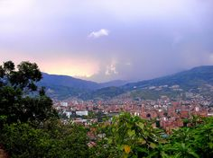 Sunset in Medellin, Colombia.