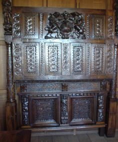 Part of Anne Boleyn's bed at Hever.