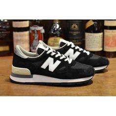 aebc308781b9 New Balance Anniversary limited Black White Silver Mens Sneakers