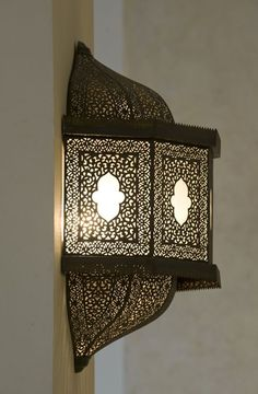 moroccan style wall sconce light, great idea for extra outdoor accent light, solar power lights inside Morrocan Decor, Moroccan Lighting, Moroccan Art, Moroccan Lanterns, Moroccan Interiors, Moroccan Design, Moroccan Style, Moroccan Bedroom, Wall Sconce Lighting