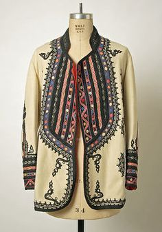 Coat Date: early century Culture: Romanian Medium: wool, silk Dimensions: Length at CB: 31 in. cm) Credit Line: Gift of Christine Valmy, 1981 Accession Number: Ethnic Fashion, Boho Fashion, Vintage Fashion, Womens Fashion, Fashion Design, Fashion Coat, Bohemian Mode, Boho Chic, Mode Style