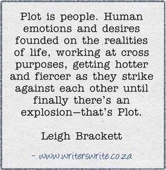 Plot is people.
