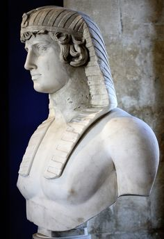 Bust of Antinous. Roman Emperor Hadrian's lover, early 2nd century AD