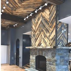 """5"""" Solid Reclaimed Wood Wall Paneling in Wheatland"""