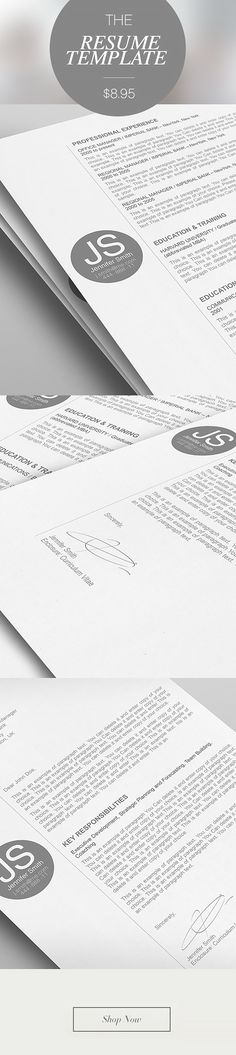 Premium line of Resume \ Cover Letter Templates MS Word and iWork - apple pages resume template